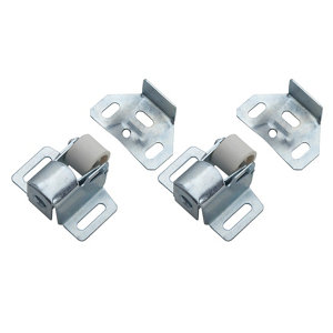 Image of Zinc-plated Carbon steel Roller catch Pack of 2