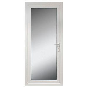 Fully glazed White uPVC LH External Back Door set  (H)2055mm (W)840mm