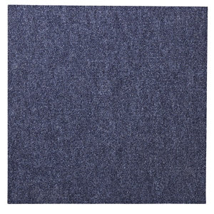 Image of Colours Blue Loop Carpet tile (L)500mm Pack of 10