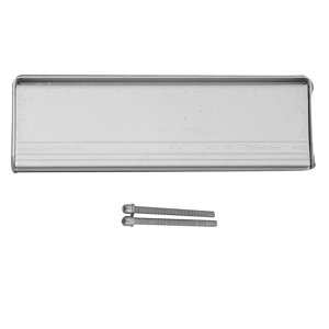 Polished Silver effect Metal Letter plate  (H)80mm (W)280mm