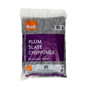 Blooma Plum 10-30mm Slate Decorative chippings  Large Bag