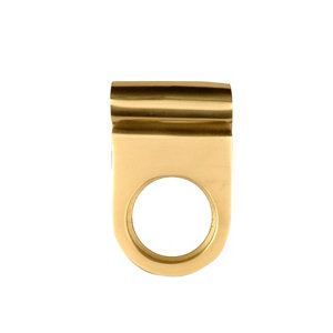 Image of Brass effect Metal Cylinder Pull latch (L)70mm