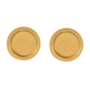 Polished Brass effect Round Door knob (Dia)57.35mm  Pair