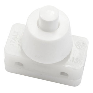 Image of B&Q 2A 1 way White Single Press Switch
