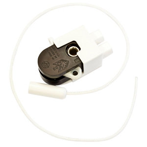 Image of B&Q 2A 1 way White Pull cord switch