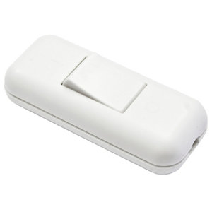 Image of B&Q 2A 1 way White Single In-line Switch