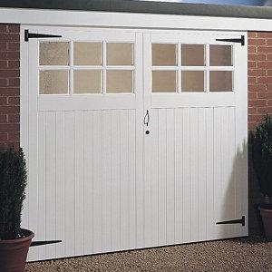 Side hung Glazed Garage door pair  (H)2134mm (W)2134mm