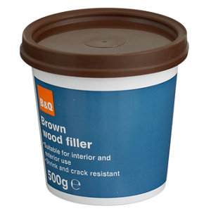 Diall Brown Ready mixed Wood Filler 500g