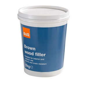 Diall Brown Ready mixed Wood Filler 1kg