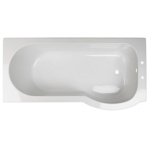 Image of Cooke & Lewis Adelphi Acrylic Right-handed P-shaped Shower Bath (L)1675mm (W)850mm