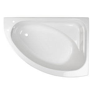 Image of Cooke & Lewis Strand Acrylic Right-handed Corner Bath (L)1495mm (W)1060mm