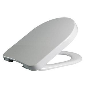 Cooke & Lewis Helena White Top fix Soft close Toilet seat