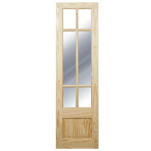 Image of Tamar 7 panel 6 Lite Clear Glazed Softwood Internal French Door panel (H)1981mm (W)579mm