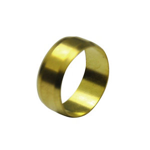 Image of Plumbsure Brass Compression Olive (Dia)15mm Pack of 100