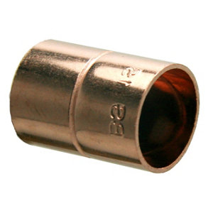 Plumbsure End feed Straight Coupler (Dia)15mm  Pack of 20