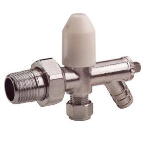 Plumbsure Chrome effect Radiator valve (Dia)10mm