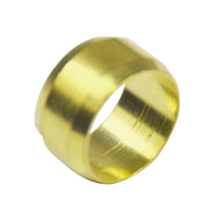Image of Plumbsure Brass Compression Olive (Dia)10mm Pack of 4