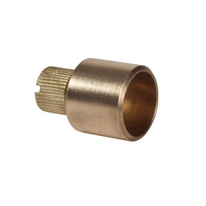Image of Plumbsure Brass End feed Bottle air vent (Dia)15mm