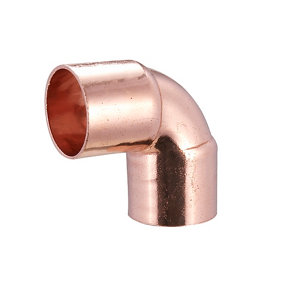 Image of End feed 90° Pipe elbow (Dia)22mm Pack of 10