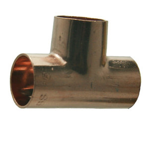Image of Copper End feed Tee (Dia)15mm Pack of 10