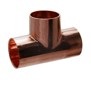 Image of Copper End feed Equal Tee (Dia)22mm Pack of 5