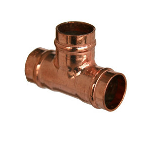 Image of Copper Solder ring Equal Tee (Dia)15mm Pack of 5