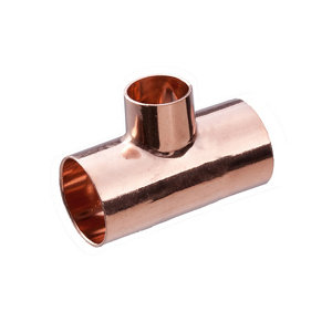 Image of Copper End feed Reducing Tee (Dia)22mm
