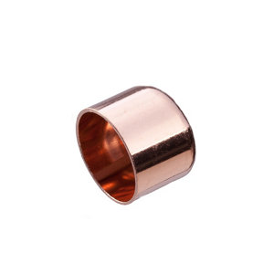 Image of Copper End feed Stop end (Dia)15mm Pack of 2