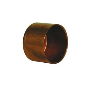 Image of Copper End feed Stop end (Dia)22mm Pack of 2