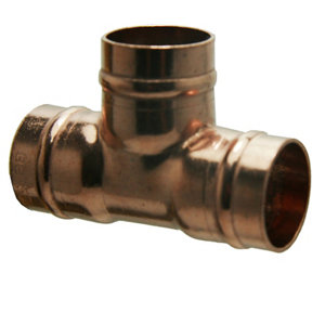 Image of Copper Solder ring Equal Tee (Dia)22mm Pack of 5