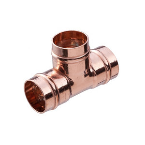 Image of Copper Solder ring Equal Tee (Dia)15mm