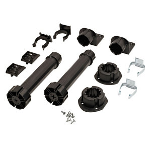 Image of Cooke & Lewis 180mm Black Cabinet legs Pack of 2