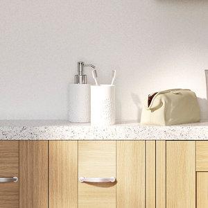 Image of 28mm Astral Gloss White Laminate Bullnose Bathroom Worktop (L)2000mm