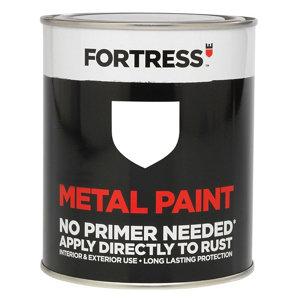 Fortress White Satin Metal paint  0.25L