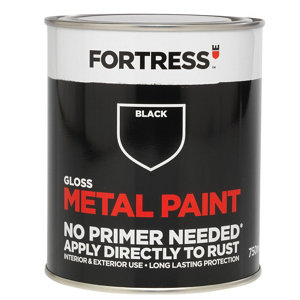 Image of Fortress Black Gloss Metal paint 0.75L