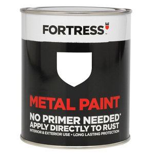 Fortress White Gloss Metal paint  0.75L