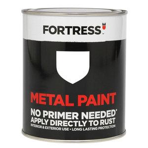 Fortress White Satin Metal paint  0.75L