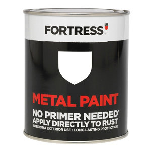 Fortress White Gloss Metal paint  0.25L