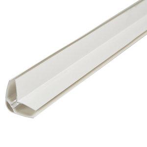 White uPVC Corner bead Moulding (L)2.4m (W)35mm (T)25mm