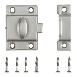 Image of Satin Nickel-plated Carbon steel Cabinet catch