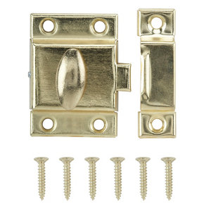 Image of Brass-plated Carbon steel Cabinet catch