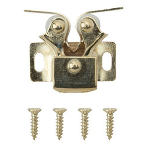 Image of Brass-plated Carbon steel Double roller catch