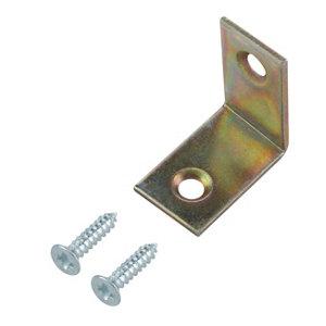Image of Yellow Zinc-plated Mild steel Corner bracket (L)25mm Pack of 20