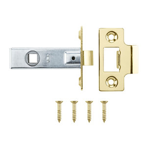 Image of Brass-plated Brass Tubular Mortice latch (L)64mm