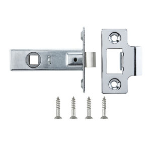 Image of Chrome-plated Chrome effect Metal Tubular Mortice latch (L)64mm