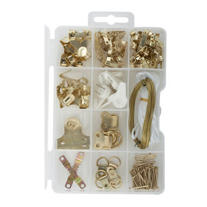 Image of 151 piece Picture hanging kit