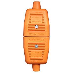 Image of B&Q 10A Orange Indoor Switched 2 pin plug & socket