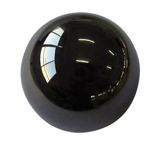 Image of Black Nickel effect Zinc alloy Round Furniture Knob (Dia)32mm Pack of 6