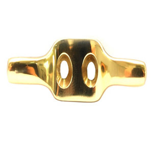 Image of B&Q Brass Double Hook (H)13.5mm