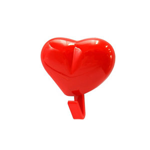 Image of B&Q Red ABS Single Hook (H)47mm